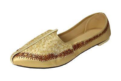 Efficiente Regno Unito Misura 7.5, 8,10.5 Chapra Gold Scarpe Khussa Scarpe-mostra Il Titolo Originale Acquista Ora