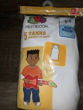 New Toddler Boys Garanimals 5 Pack A-Shirts Undershirt Tank Tops White 2T-3T