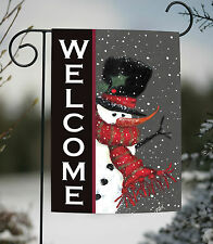 christmas garden flags. NEW Toland - Snowman Welcome Winter Christmas Double Sided Garden Flag Flags I