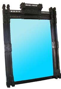 Antique-American-Aesthetic-Movement-Ebonized-Over-Mantel-Mirror-7251