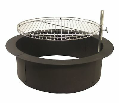 """32"""" Steel Fire Ring Cooking Grate Campfire Pit Camping ..."""