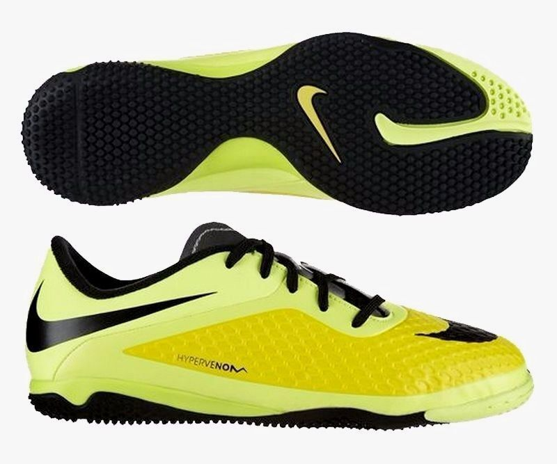 Nike Hypervenom Phelon Ic Fútbol Indoor Fútbol Zapatos Vivos Amarillo   Negro
