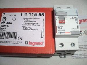 LEGRAND 411555 Inter Différentiel 2P 40A 30mA Type A