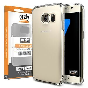 Samsung-Galaxy-S7-EDGE-Flexicase-TPU-Gel-Case-Cover-Soft-Skin-Clear-by-Orzly