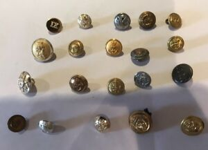 Details about Vintage Job Lot Mixed Buttons Military Livery Army Navy Crown  Anchor Lot Q