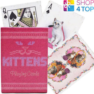 ELLUSIONIST-MADISON-KITTENS-CATS-PLAYING-CARDS-DECK-GAFFED-MARKED-BICYCLE-NEW
