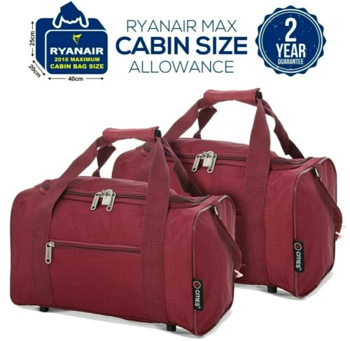 5 Villes 2019 Ryanair 40x20x25 Max taille cabine Carry on Holdall Sac Case Set Of 2