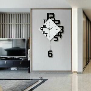 Nordic Wall Clock Swing Watch Modern Design Living Room Quartz Home Decor Clocks