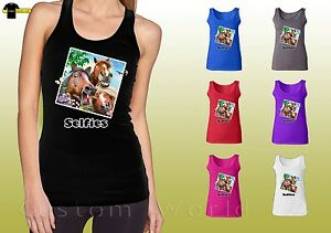 Horse-Selfies-Design-Shirts-Funny-Selfie-Graphic-Horse-Ladies-Tank-Top-21039hd4