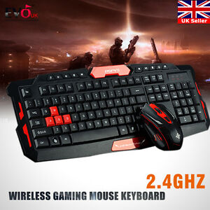 2 4g Gaming Wireless Keyboard And Mouse Combo Set Multimedia Game