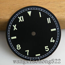 37.5mm black dial fit Unitas ETA 6497 ST3600 movement luminous parnis watch 012