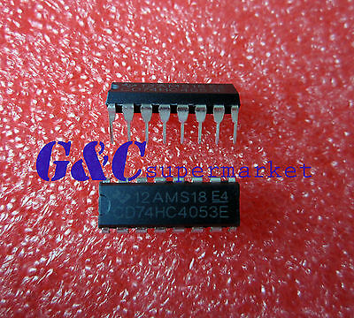 100pcs CD74HC4053 74HC4053 MUX//DEMUX TRIPLE 2X1 16DIP NEW GOOD QUALITY D30