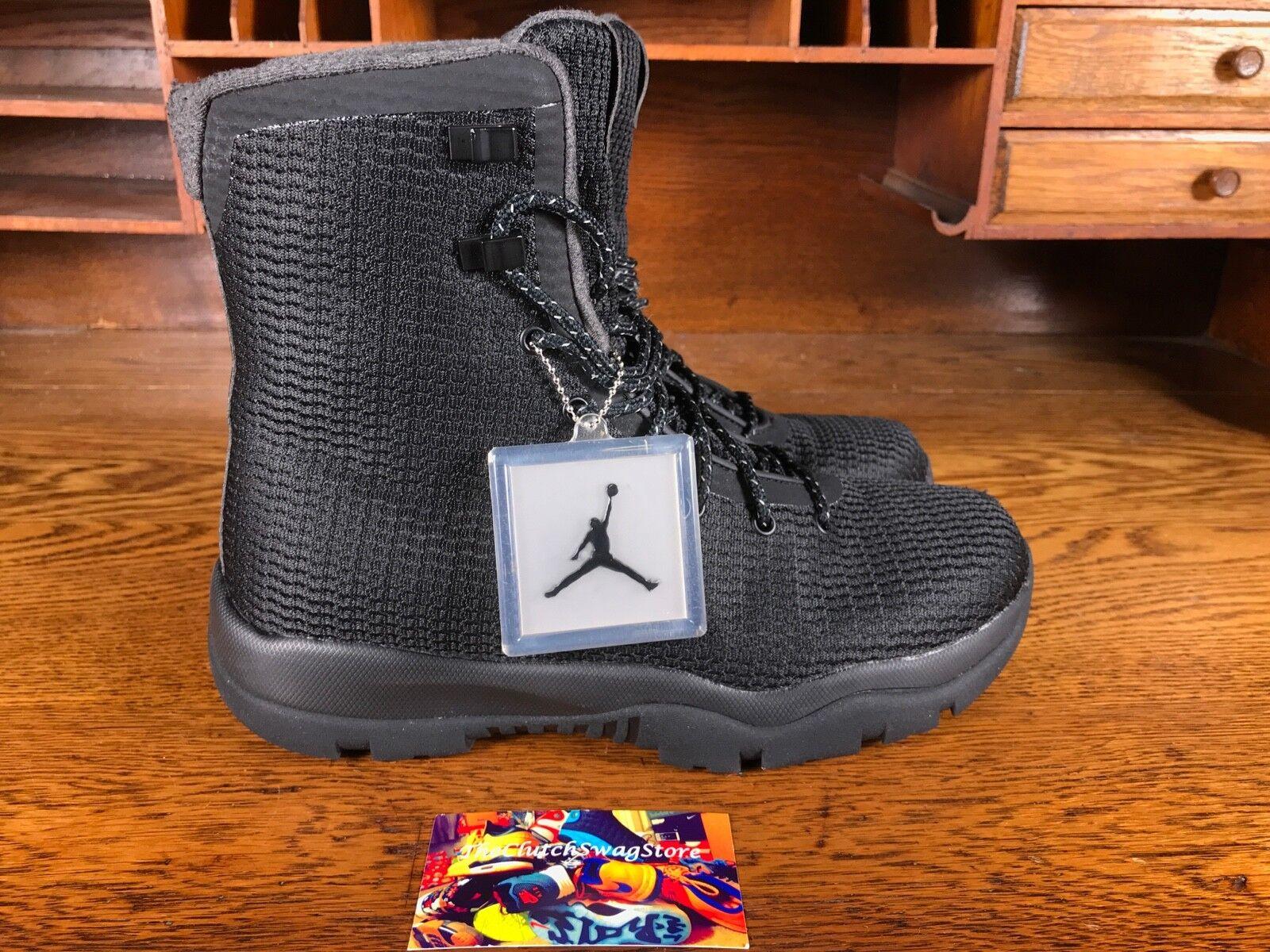 Nike Air Jordan Retro Future Men Snow Boot Black Grey Waterproof 854554-002 Sz 9