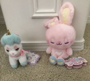 Amuse-Unicorn-Sleepy-Eyed-Plush-And-Pink-Bunny-Kawaii