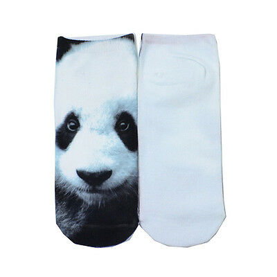 1 Pair 3D Printed Cartoon Animals Men Women's Cotton Casual Low Cut Ankle Socks