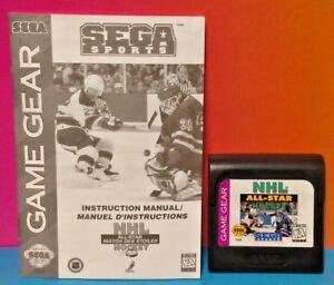 NHL-All-Star-Hockey-Manual-Sega-Game-Gear-Portable-Cartridge-Tested