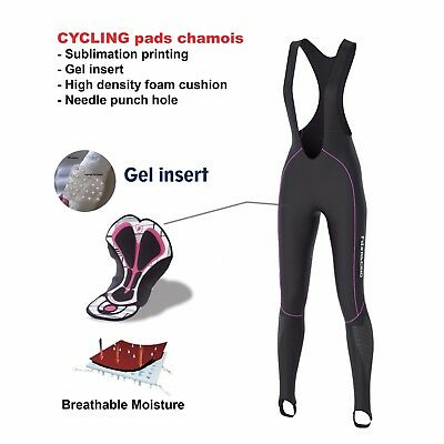 FDX Ladies Thermoshell Cycling Bib Tights Winter Roubaix Padded Cycling Trouser
