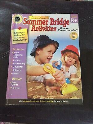 Grades Pre K - K, Workbook For Summer Learning Loss Summer Bridge Activities New