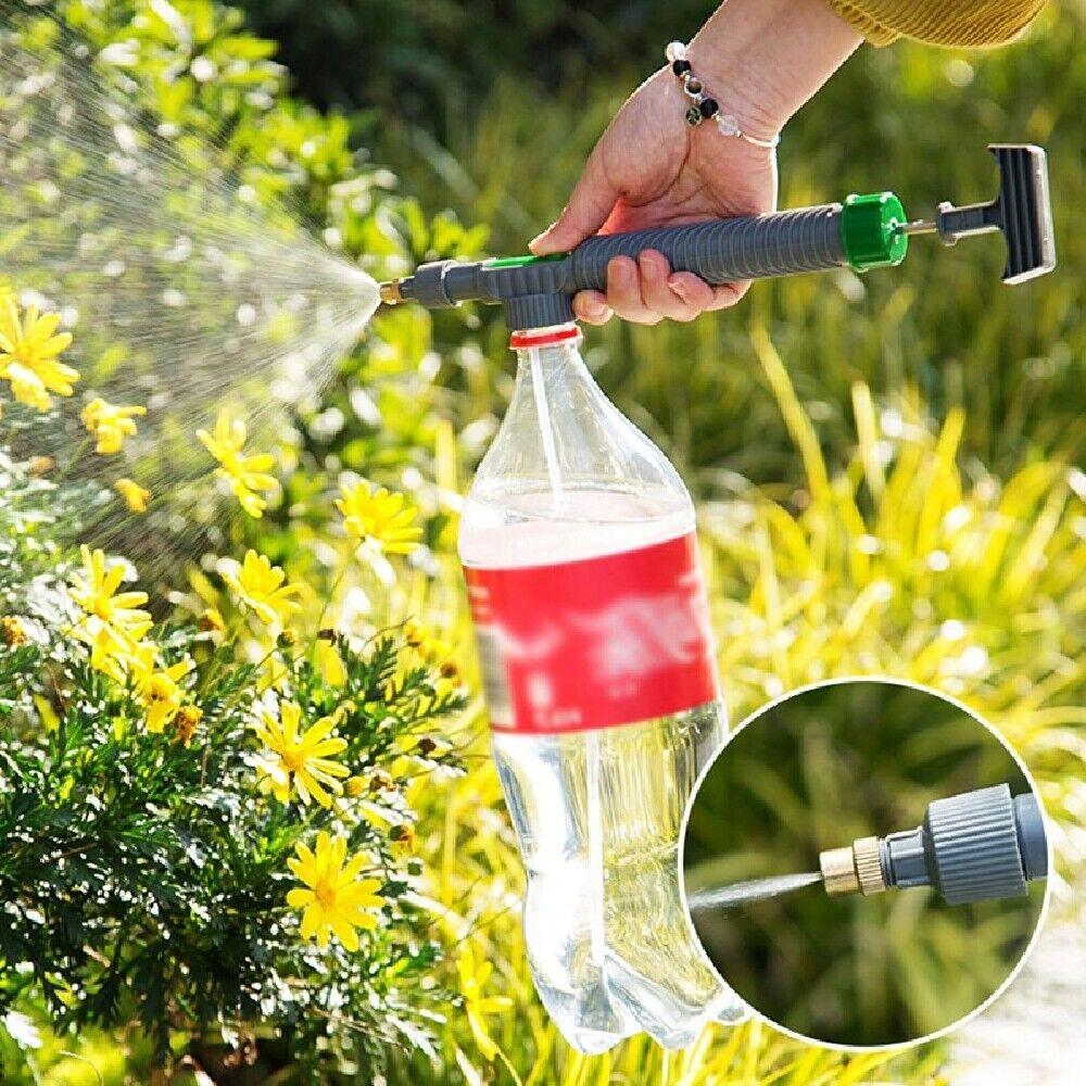 Manual High Pressure Air Pump Sprayer Drink Bottle mist Spray Garden Watering