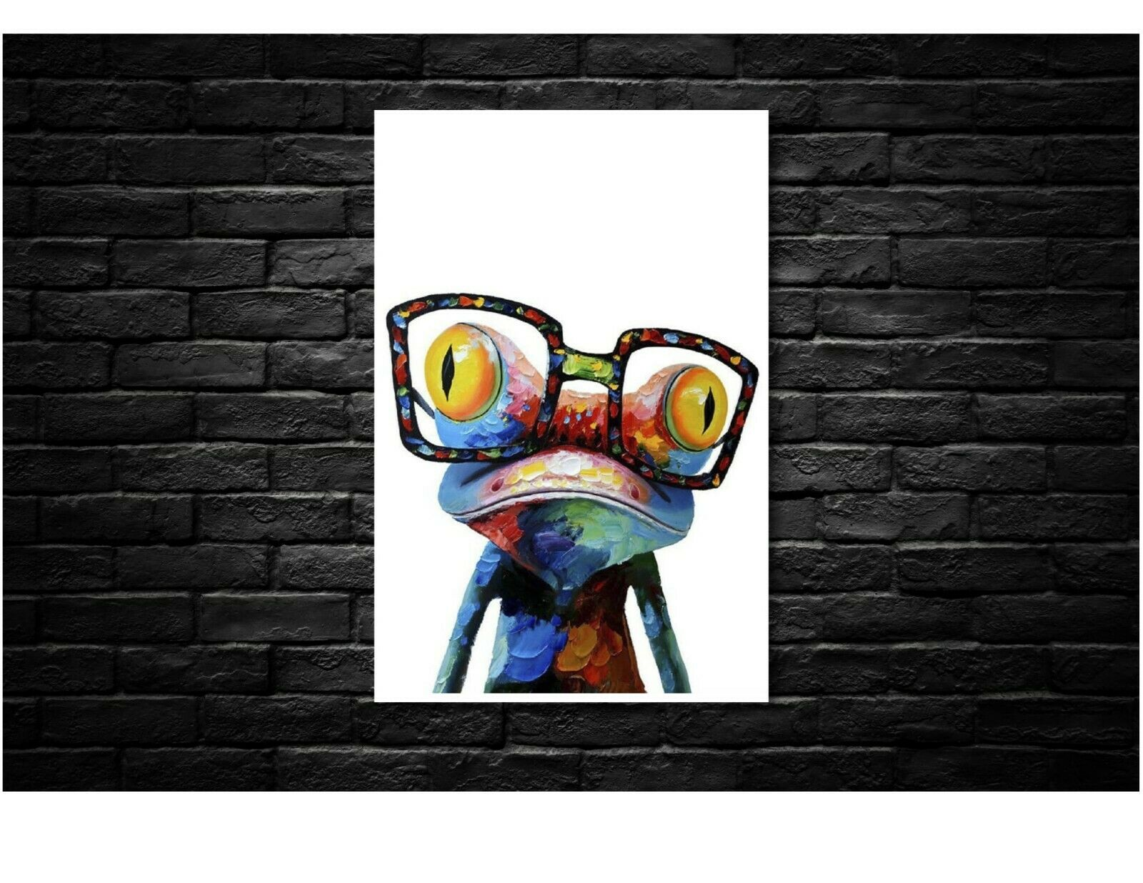 Frog Abstract Canvas Wall Art Print - Various Größes