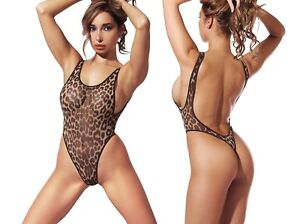 Image is loading Exotic-One-Piece-Swimsuit-Extreme-Transparent-Thong-High- 6774d707e578
