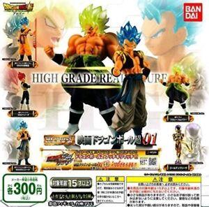 2018 Bandai Gashapon Dragon Ball SUPER MOVIE High Grade Real Figure 01 Set of 5