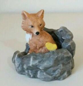 Woodland-Surprises-Fox-Vixen-Figurine-Jacqueline-Smith-Franklin-Porcelain-1984