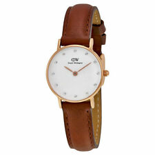 Daniel Wellington 0900DW Classic St. Mawes 26mm Brown Leather Womens Watch