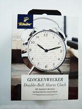 TCM Tchibo Glockenwecker Wekcer double nell clock verchromtes Gehäuse