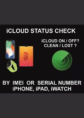 iPhone iPad APPLE Watch ICLOUD Find My IPhone STATUS CHECK ...