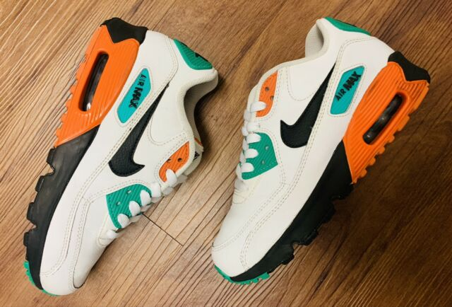 Rare Nike Air Max 90 LTR 1 Kids Starfish Green Shoes Size 3.5Y 833412-119
