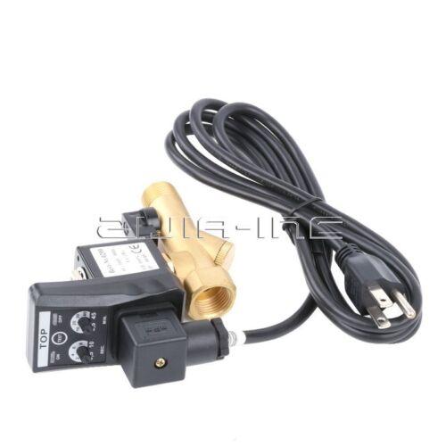 Nosotros Plug De 1//2 Pulgada Ac 220v automática electrónica sincronizada Agua Tanque De Gas válvula de drenaje