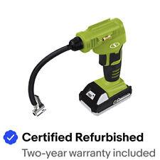 Sun Joe Cordless Portable Air Compressor Kit |1.3-Ah Battery, Nozzle Accessories