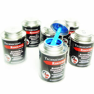 6 PACK ! HEAVY DUTY BLUE VULCANIZING CEMENT TIRE PATCH GLUE 8 OZ CAN | eBay