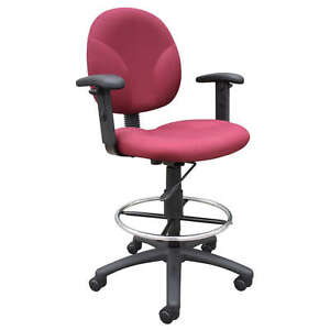 Awesome Details About Medical Drafting Office Chair Stool W Chrome Footring Bralicious Painted Fabric Chair Ideas Braliciousco
