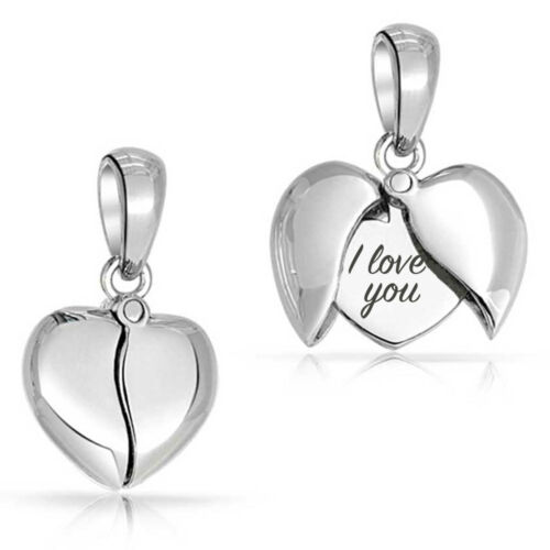 Love Heart Charm Bracelet Bead or Silver Necklace Pendant Mother/'s Gift