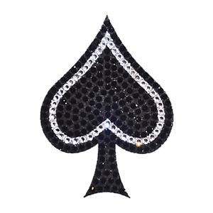 Crystal Heiress Spade Rhinestone Decal CHSPA1