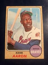 1968 Topps Hank Aaron Atlanta Braves #110 Baseball Card