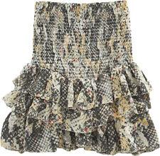 "NWOT ISABEL MARANT Mainline ""Milla"" Smocked Mini Skirt SZ 38 Snake Ruffle Tier"