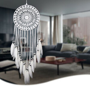Dream-Catcher-Tribal-Indian-Handmade-Retro-Dreamcatcher-Wall-Hanging-Decor-White