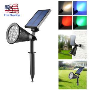 Solar-Power-Spot-Light-Outdoor-7-LED-Garden-Lawn-Landscape-Path-Wall-Lamp-Decor