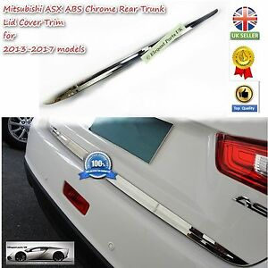 Highest Quality Chrome Rear Trunk Lid Cover Trim  for Mitsubishi ASX 2013-2017