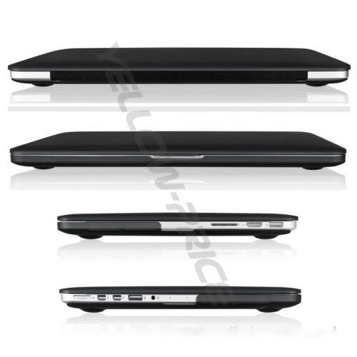 "Black Rubberized Hard Case Keyboard Cover LCD Screen Macbook Pro//Air 11 12 13"""