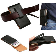 Fit Leather Vertical Belt Clip Holster Pouch Case For iPhone/Samsung/HTC/LG