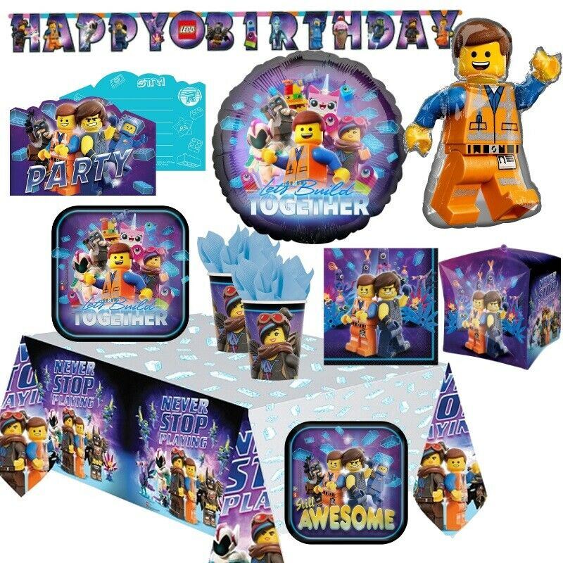 The Lego Movie 2 Party Tableware, Decorations and Balloons