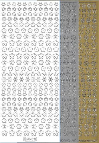 Starform Outline Stickers N° 7048 Petites Fleurs Auto-collants Peel offs