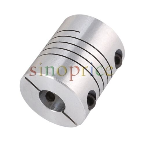 CNC Motor Shaft Coupler 6.35mm to 10mm Flexible Coupling 1//4/""