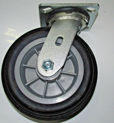 "Durable USA 6/"" Solid Wheel Swivel Casters w// Grease Fittings 750LB"
