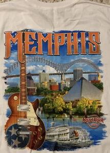 Hard-Rock-Cafe-MEMPHIS-2017-City-Tee-White-T-SHIRT-2X-XXL-Men-039-s-New-Tags-V17