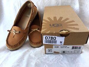 Détails sur Mocasines UGG AUSTRALIA W CHIVON Original talla 37 EU, 23 cm Zapatos Piel Nuevos